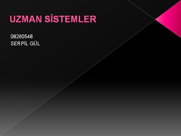 UZMAN SSTEMLER 08260548 SERPL GL Uzman Sistem Bir