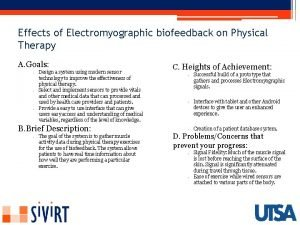 Effects of Electromyographic biofeedback on Physical Therapy A