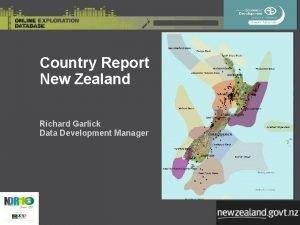 Country Report New Zealand Richard Garlick Data Development