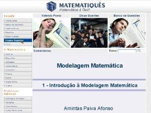 Ensino Superior Modelagem Matemtica 1 Introduo Modelagem Matemtica