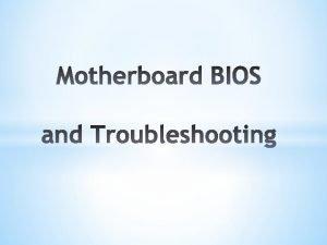 What is a BIOS basic inputoutput system BIOS