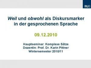 Philipp Dorok M A Lehrstuhl fr Germanistische Linguistik