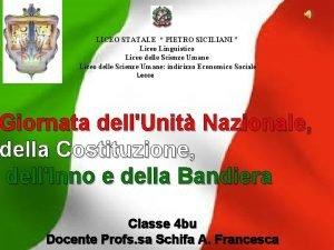 LICEO STATALE PIETRO SICILIANI Liceo Linguistico Liceo delle