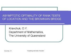 ASYMPTOTIC OPTIMALITY OF RANK TESTS OF LOCATION AND