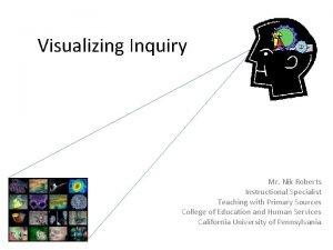 Visualizing Inquiry Mr Nik Roberts Instructional Specialist Teaching