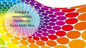 Energia e movimentos Professora Paula Melo Silva FSICA