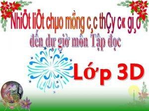 Lp 3 D n bi c Trn bng
