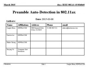 March 2015 doc IEEE 802 11 150360 r