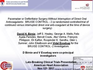 Pacemaker or Defibrillator Surgery Without Interruption of Direct