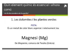Quin element qumic s essencial i alhora com