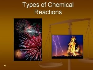 Types of Chemical Reactions Types of Reactions There