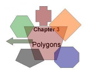 Chapter 3 Polygons 3 1 Basic Polygons I