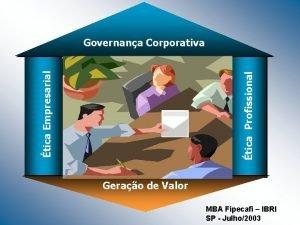 tica Profissional tica Empresarial Governana Corporativa Gerao de