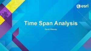 Time Span Analysis David Attaway Time Span Analysis