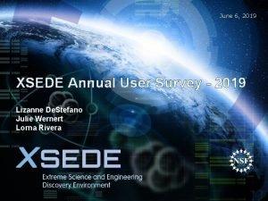 June 6 2019 XSEDE Annual User Survey 2019
