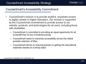 Course Smart Accessibility Strategy Course Smarts Accessibility Commitment