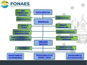 ESTRUCTURA ORGANIZATIVA Junta Administradora de Cuentas JUNTA DIRECTIVA