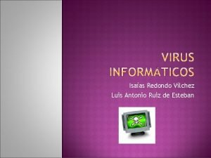 Isaas Redondo Vlchez Luis Antonio Ruiz de Esteban