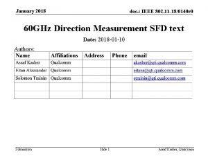 January 2018 doc IEEE 802 11 180140 r