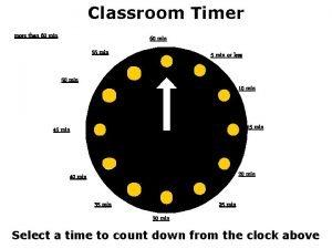 Classroom Timer more than 60 min 55 min