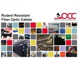 Rodent Resistant Fiber Optic Cables Introduction Optical fiber
