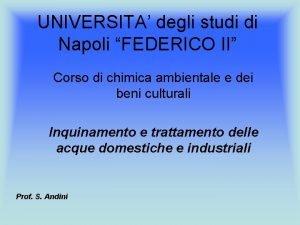 UNIVERSITA degli studi di Napoli FEDERICO II Corso