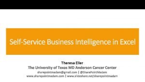 Theresa Eller Theresa Eller Business Systems Analyst at