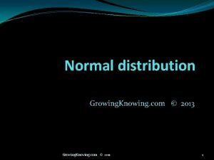 Normal distribution Growing Knowing com 2013 Growing Knowing