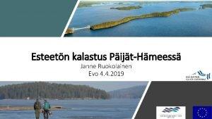 Esteetn kalastus PijtHmeess Janne Ruokolainen Evo 4 4