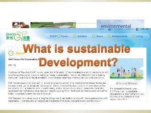 What is sustainable Development Sustainable Development International definition