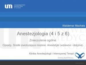 Waldemar Machaa Anestezjologia 4 i 5 z 6