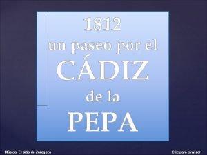 1812 un paseo por el CDIZ de la