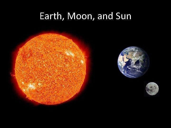 Earth Moon and Sun The Sun The Sun