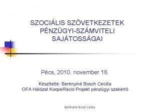 SZOCILIS SZVETKEZETEK PNZGYISZMVITELI SAJTOSSGAI Pcs 2010 november 16