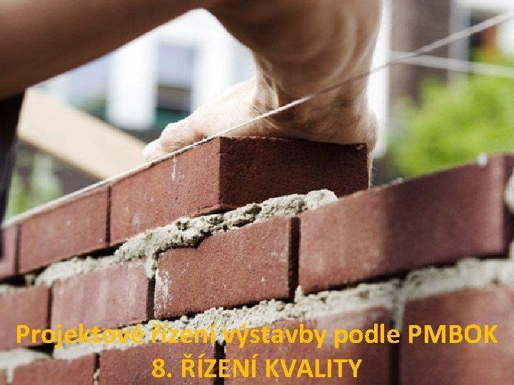 Projektov zen vstavby podle PMBOK 8 ZEN KVALITY