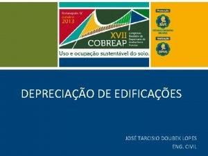 DEPRECIAO DE EDIFICAES JOS TARCISIO DOUBEK LOPES ENG