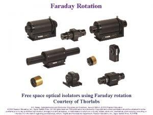 Faraday Rotation Free space optical isolators using Faraday