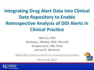 Integrating Drug Alert Data into Clinical Data Repository