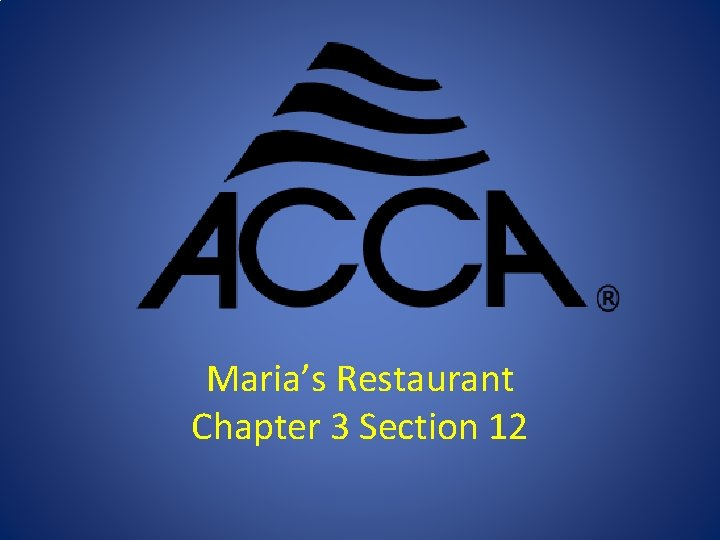 Marias Restaurant Chapter 3 Section 12 Marias Duct