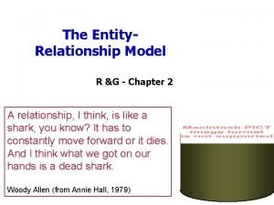 The Entity Relationship Model R G Chapter 2