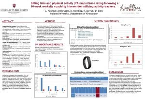 Sitting time and physical activity PA importance rating