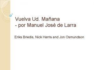 Vuelva Ud Maana por Manuel Jos de Larra