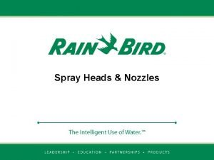 Spray Heads Nozzles Product Overview Spray Heads 1800