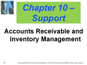 Chapter 10 Support Accounts Receivable and Inventory Management