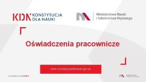 Owiadczenia pracownicze www konstytucjadlanauki gov pl www facebook