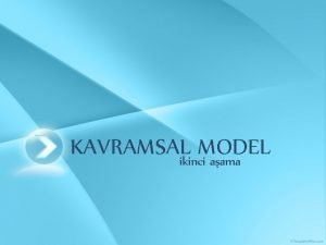 KAVRAMSALikinci MODEL aama KAVRAMSAL MODEL Conceptual Model Veri