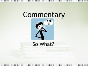 Commentary So What Fact vs Opinion A fact