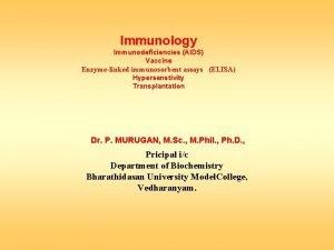 Immunology Immunodeficiencies AIDS Vaccine Enzymelinked immunosorbent assays ELISA
