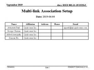 September 2019 doc IEEE 802 11 191525 r