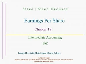 St Ice Skousen Earnings Per Share Chapter 18